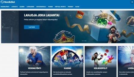 NordicBet etusivu