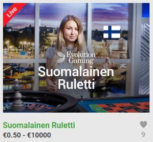 Unibet suomalainen ruletti