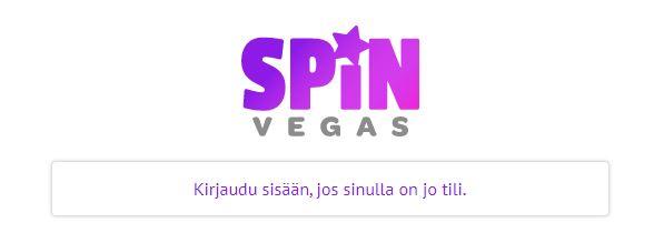 Spin vegas kirjaudu