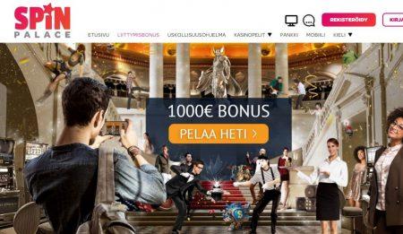 spinpalace kasinon bonus