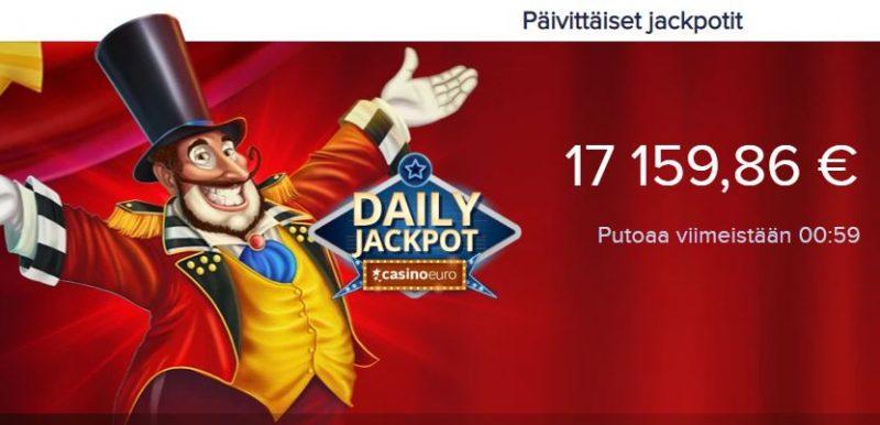 CasinoEuro päivittäiset jackpotit