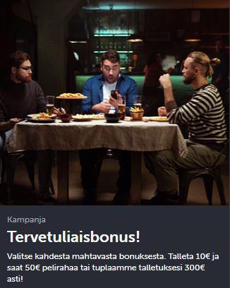 ComeOn tervetuliaisbonus