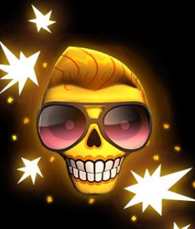 Esqueleto Explosivo pääkallo
