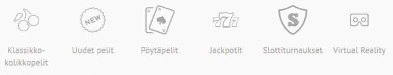 SlotsMillion kategoriat