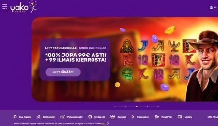 Yako Casino etusivu