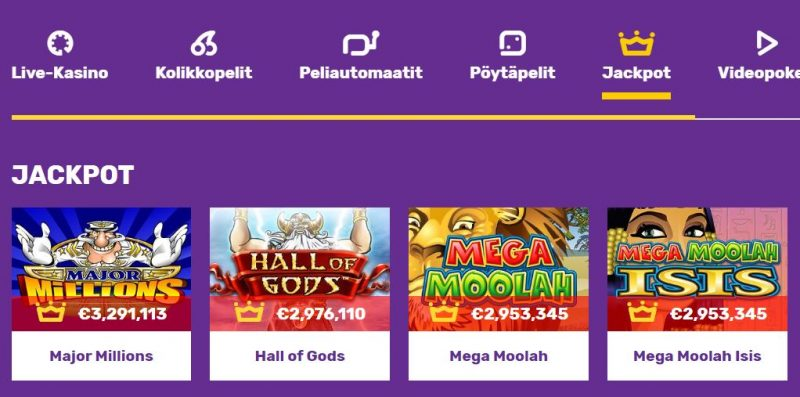 Yako Casino jackpotit