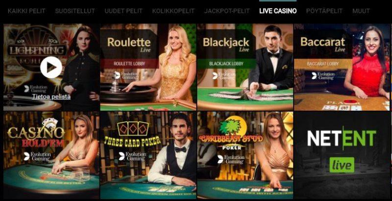 VoodooDreams Casino livepelit