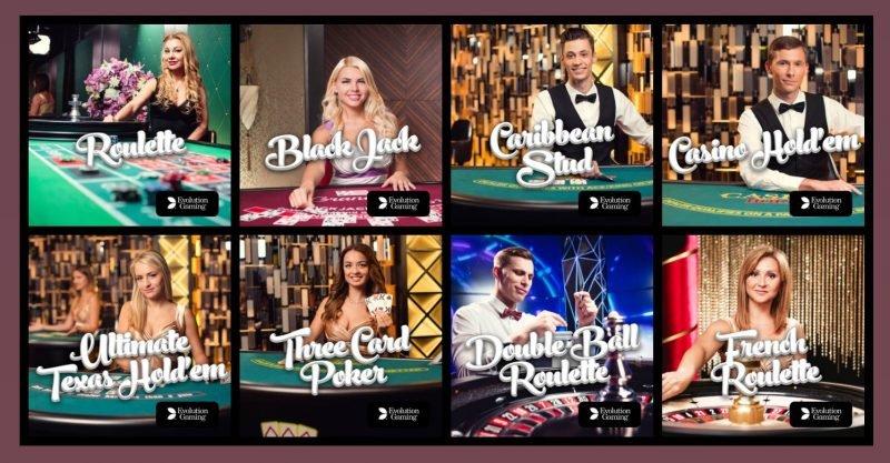 live casinopelit