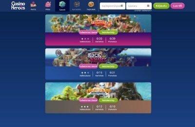 Casino heroes kasinoseikkailun saaret