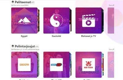 Dreamz-nettikasino pelikategoriat