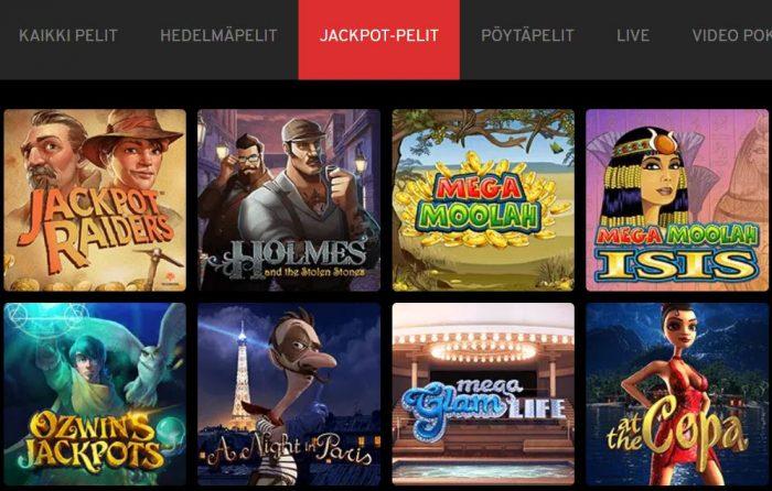 N1 Casino jackpotit