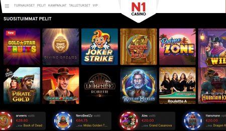 N1 Casino suosituimmat pelit