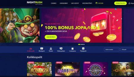 Night Rush kasinon etusivu