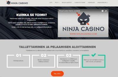 Ninja Casino ei rekisteröitymistä