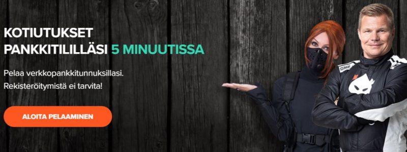 Ninja Casino tarjoaa kotiutukset 5 minuutissa