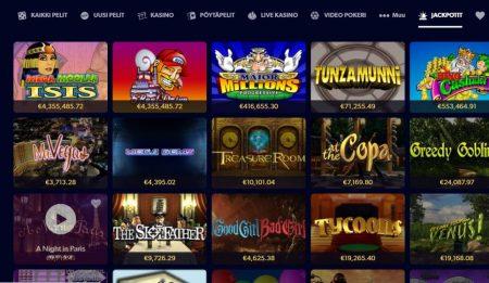 yli 50 jackpot-peliä