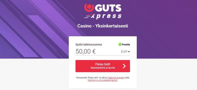 GutsXpress Casino yksinkertaisesti