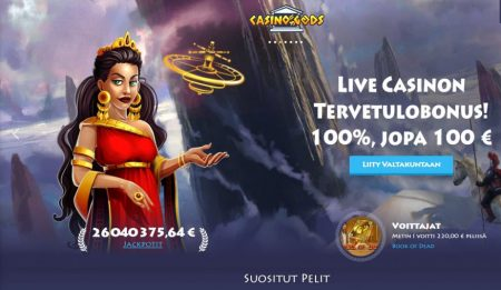 Casino Gods livekasino bonus
