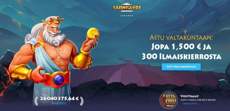 Casino Gods tervetuliainen