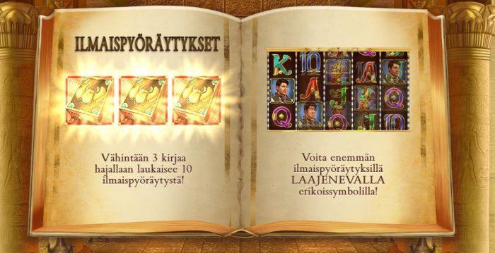 book of dead pelissä voit saada 10 ilmaiskierrosta