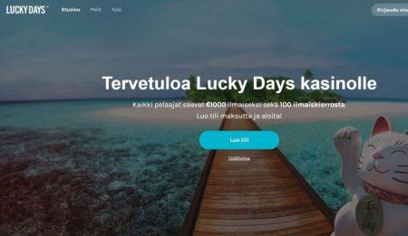 lucky days nettikasino