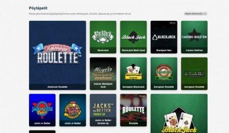 suosituimmat pöytäpelit myös live casinolla