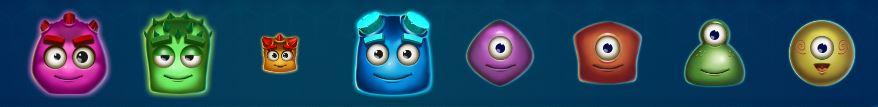 reactoonz kolikkopelin symbolit