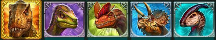 symbolit raging rex kolikkopelissä