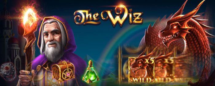 the wiz kolikkopeli täynnä taianomaista tunnelmaa