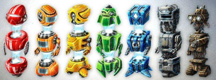 robottisymbolit kolikkopelissä