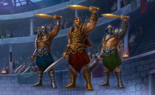 gladiaattorit champions of rome kolikkopelissä