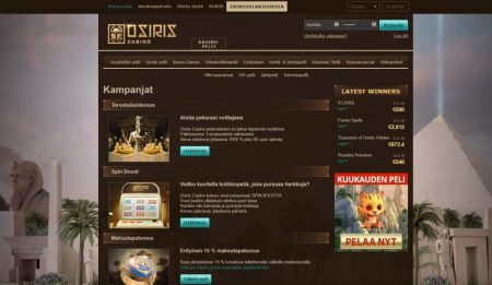 osiris casino kampanjat