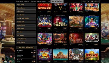 parklane casino pelivalikoima