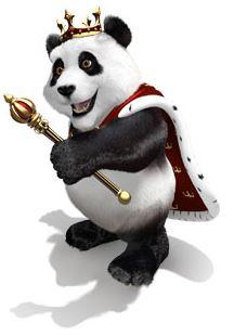 royal panda nettikasinon maskotti