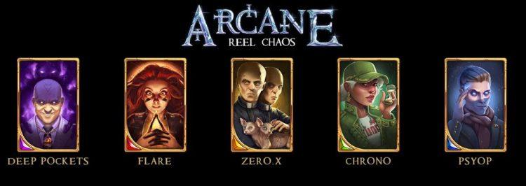 Arcane Reel Chaos päähenkilöt