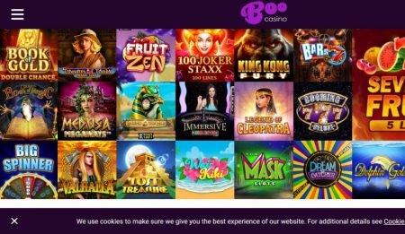 Boo casino pelivalikoima