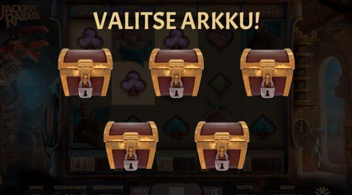Jackpot raiders arkun valinta