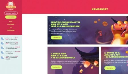 Maneki Casino kampanjat