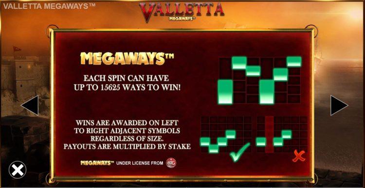 Valletta Megaways kolikkopeli voittotavat