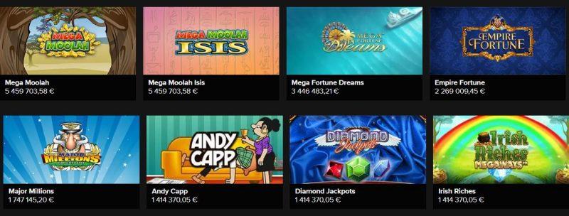 Casino Winner jättipotti pelit