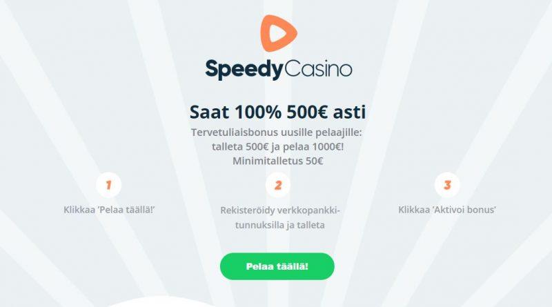 Speedy Casino tervetulotarjous