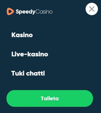 Speedy casino valikko