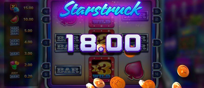 Starstruck kolikkopeli iso voitto