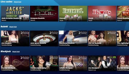 SuperNopea Live casino