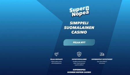 SuperNopea casino etusivu