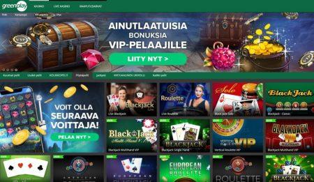 Greenplay casinolta löytyy runsaasti pöytäpelejä