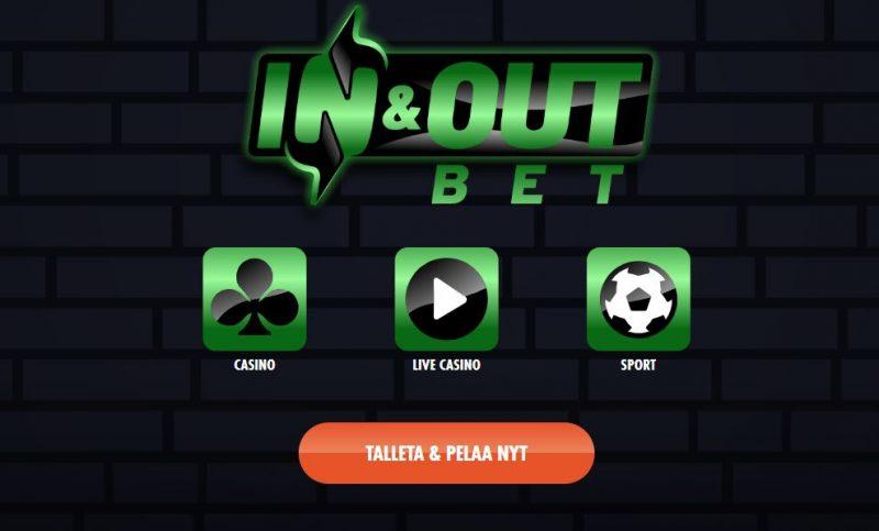 InAndOutBet talleta ja pelaa