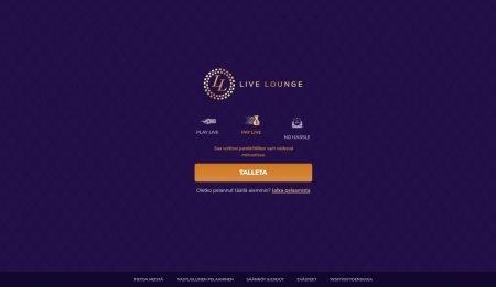 Live Lounge kasino etusivu