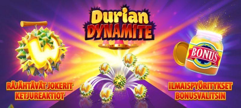 Durian Dynamite kolikkopelin upeat bonustoiminnot
