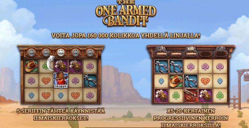 The One Armed Bandit erikoistoiminnot